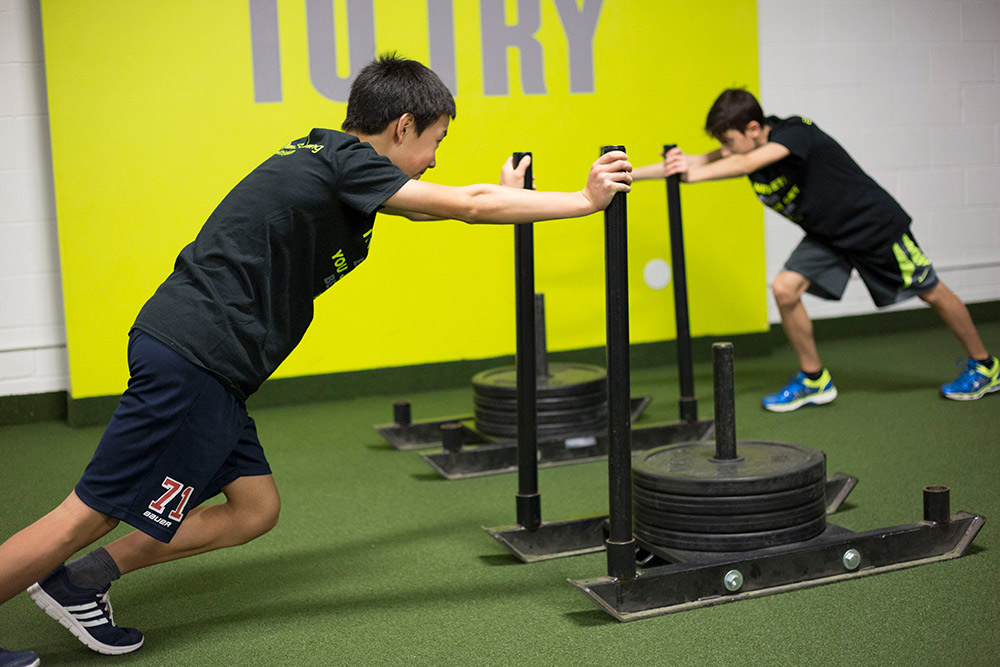 Child gym workout